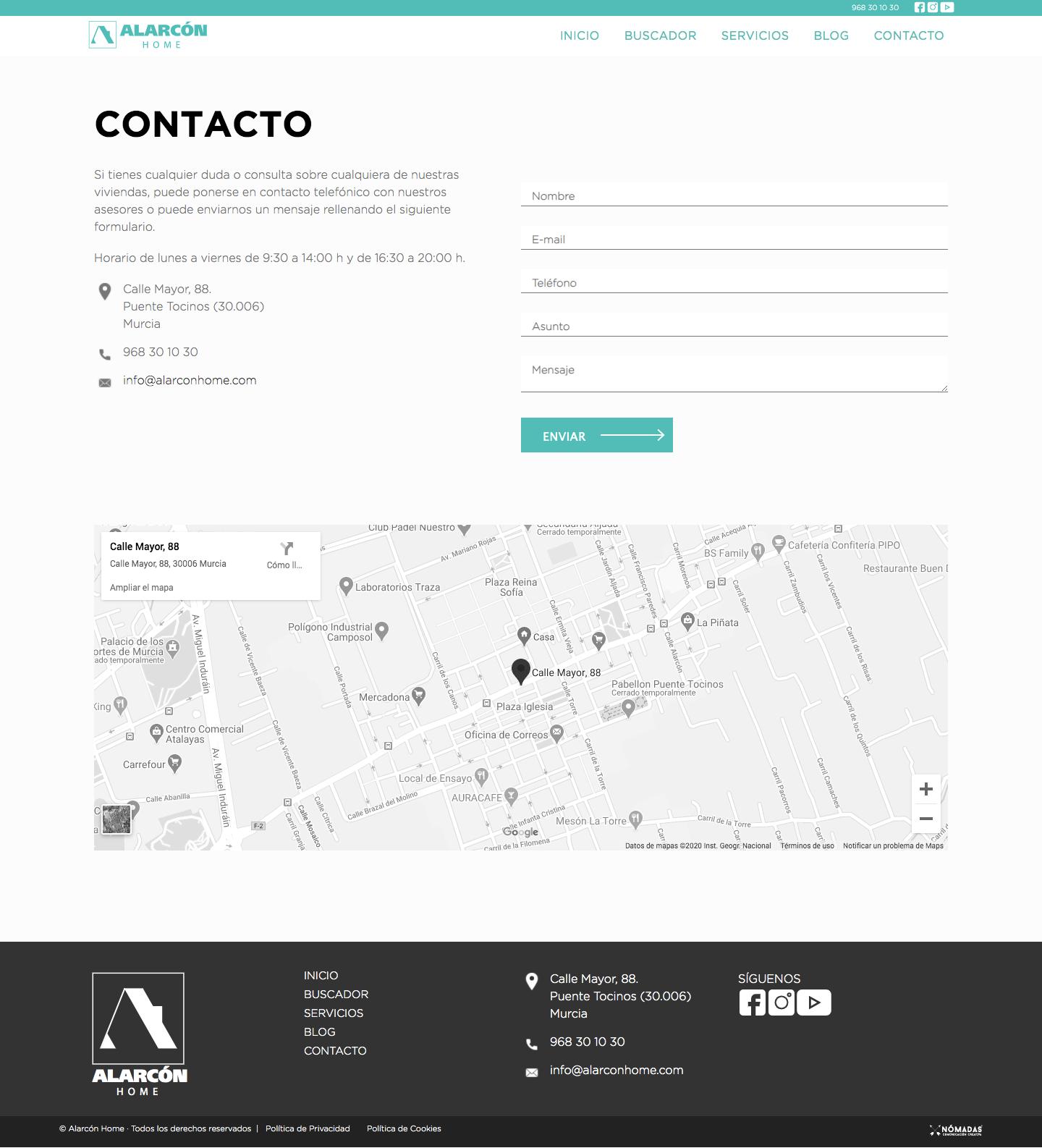 Estudio de diseño en Murcia. Diseño de páginas web a medida en Murcia | Nómadas Comunicación Creativa.
