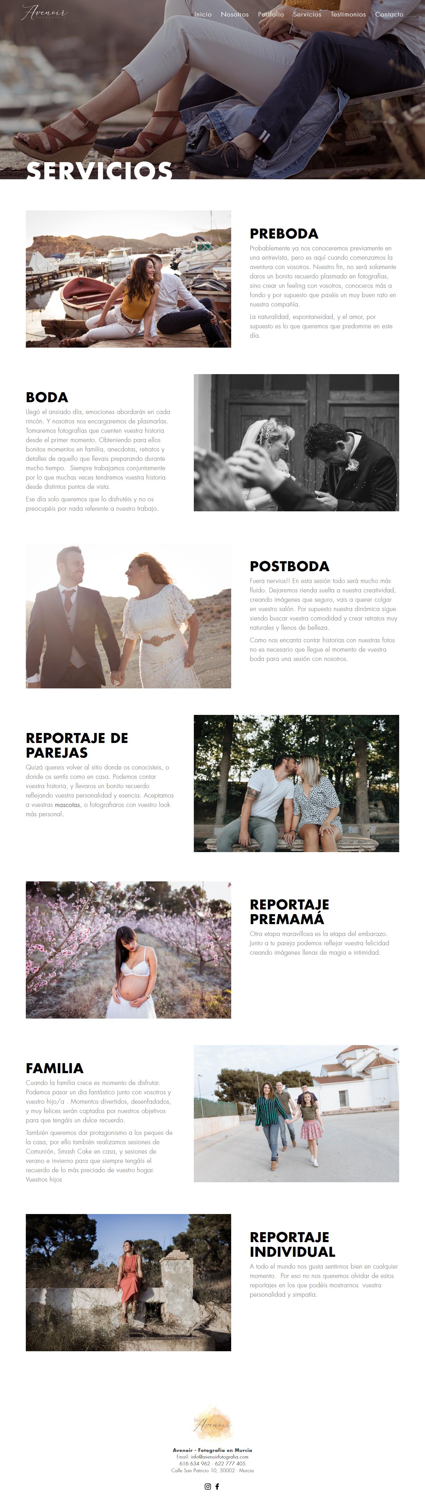 Programador freelance de páginas web para estudio de fotografía en Murcia, Madrid y Panamá City | Nómadas Comunicación Creativa