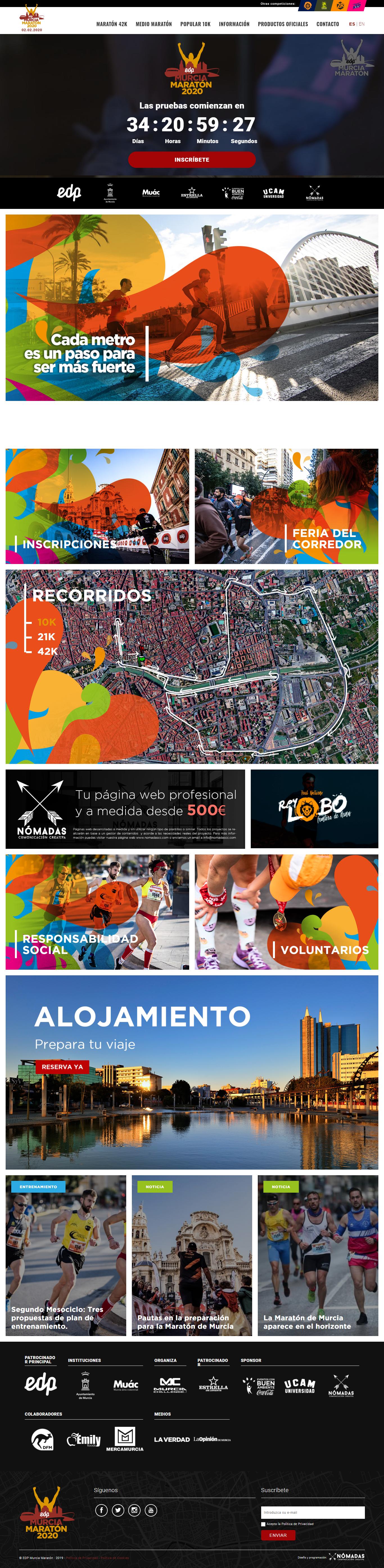 Patrocinio deportivo en Murcia. Desarrollo de página web a medida en Drupal en Murcia y Madrid. | Nómadas Comunicación Creativa.