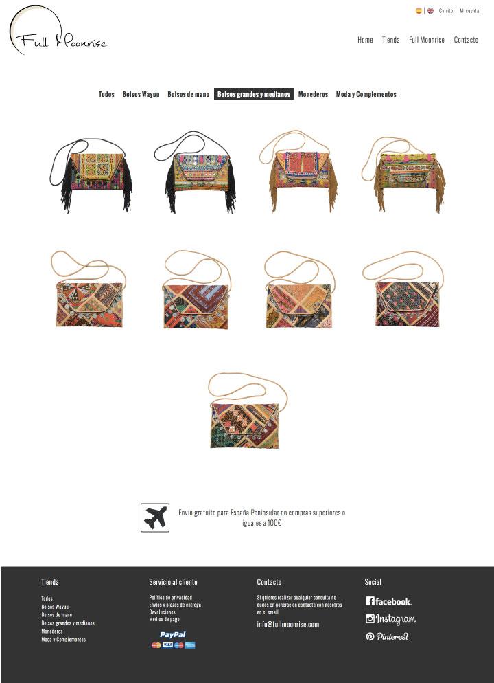 Diseño y programación de tienda online para bolsos en Murcia, Madrid y Panamá City | Nómadas Comunicación Creativa