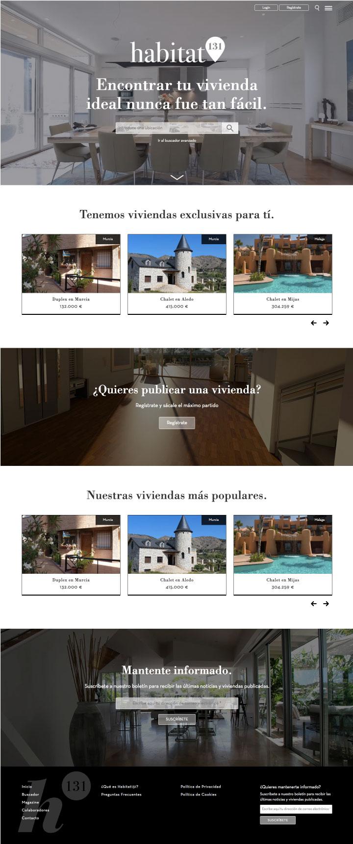 Portal inmobiliario desarrollado con Drupal por un programador freelance en Murcia, Madrid y Panamá City | Nómadas Comunicación Creativa.