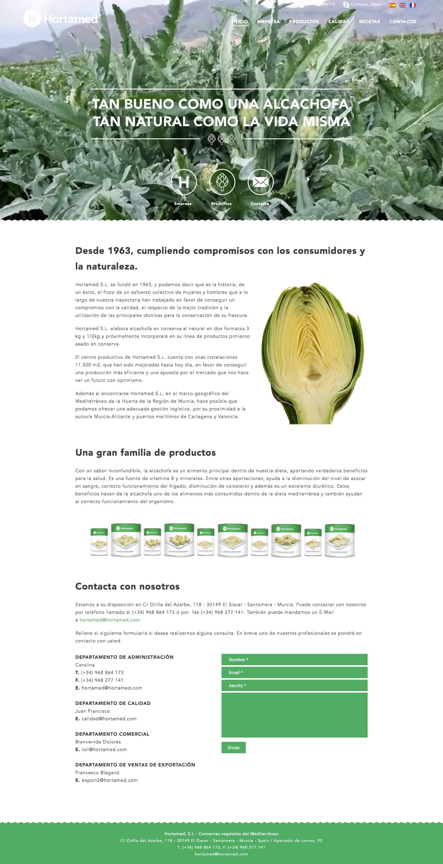Estudio de diseño web para empresas del sector hortofrutícola de Murcia, Madrid y Panamá City | Nómadas Comunicación Creativa