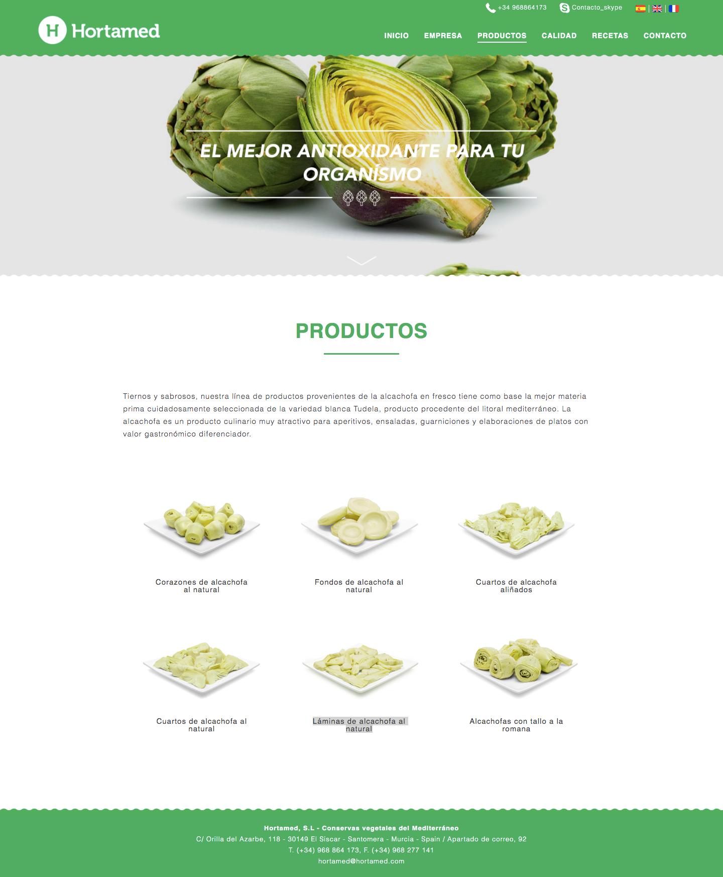 Diseño de página web para empresas del sector hortofrutícola de Murcia, Madrid y Panamá City | Nómadas Comunicación Creativa