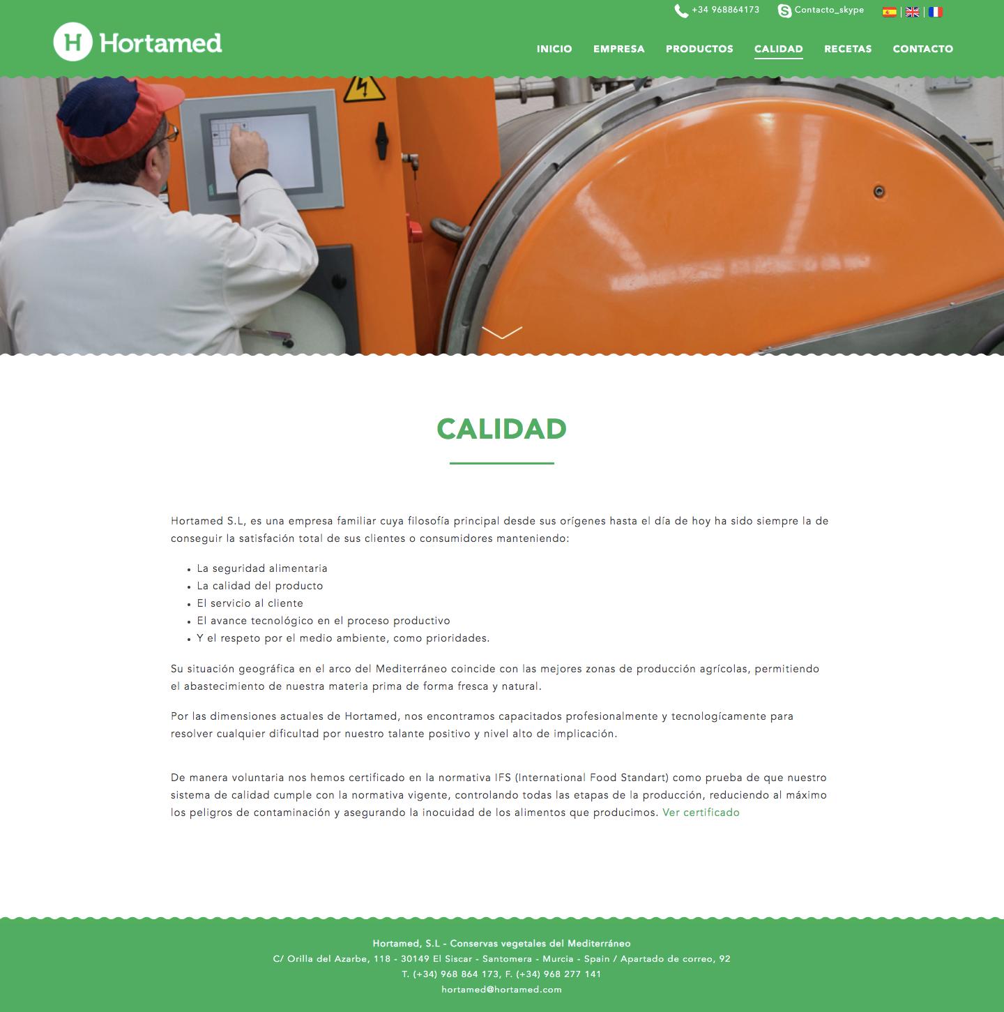 Página web de alcachofas en Murcia, Madrid y Panamá City | Nómadas Comunicación Creativa