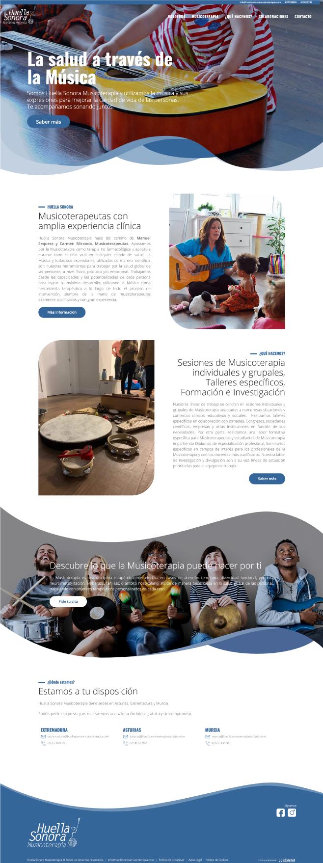 Desarrollo de página web de salón de Manicuras en Drupal en Murcia, Madrid y Panamá City | Nómadas Comunicación Creativa.