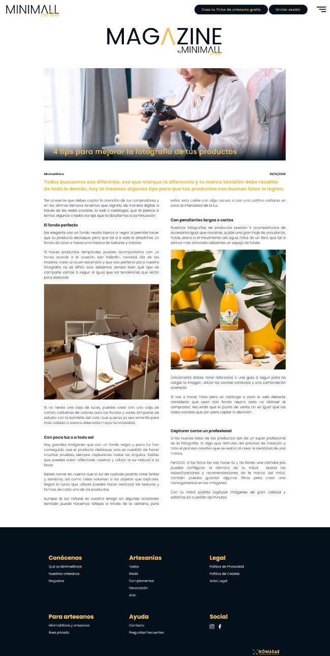 Estudio de diseño freelance de páginas web en Murcia, Madrid y Panamá City | Nómadas Comunicación Creativa