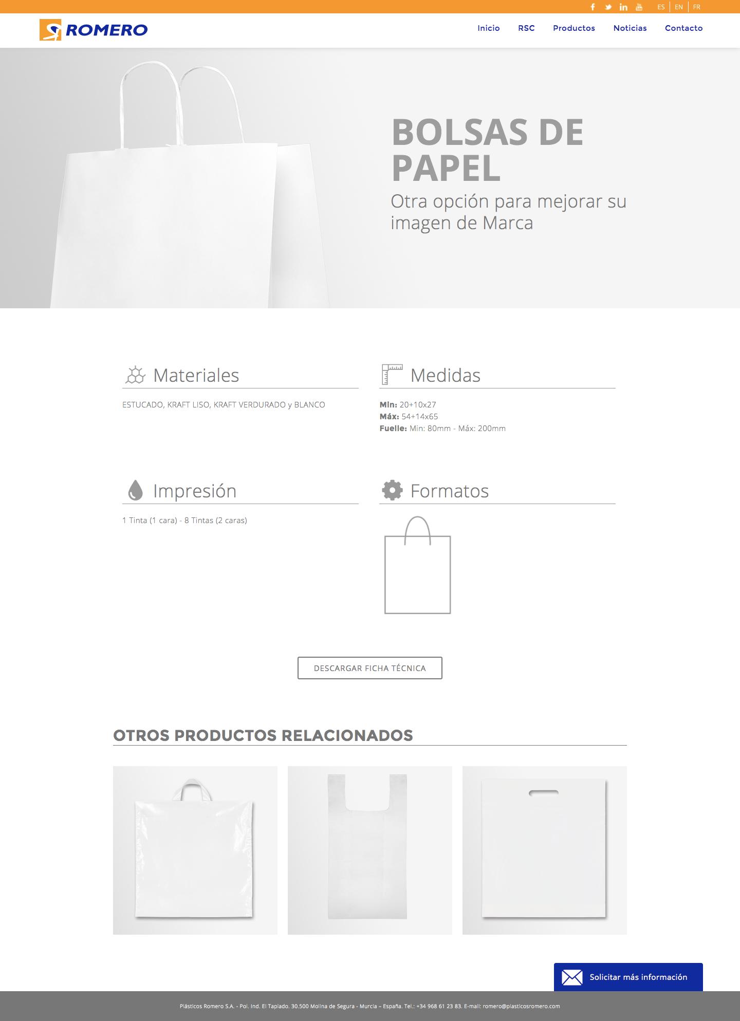 Diseño de web corporativa para empresa de plásticos en Murcia, Madrid y Panamá City | Nómadas Comunicación Creativa