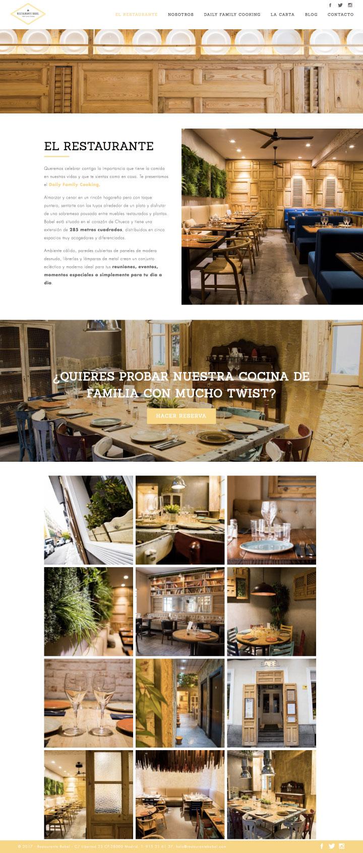 Diseño de página web a medida en Madrid para restaurantes. Agencia de Marketing Digital en Murcia, Madrid y Panamá City | Nómadas Comunicación Creativa