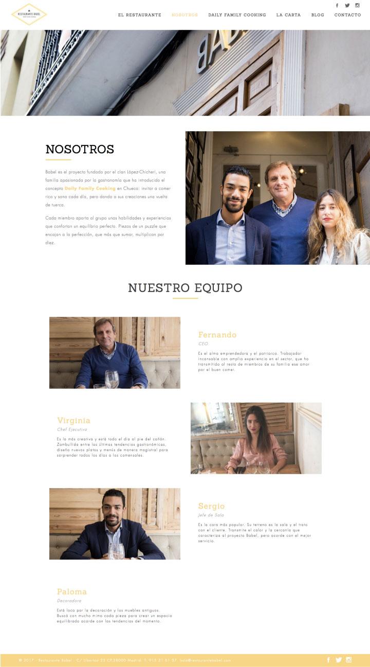 Diseño web freelance en Madrid para restaurantes. Web corporativa para restaurantes en Murcia, Madrid y Panamá City | Nómadas Comunicación Creativa