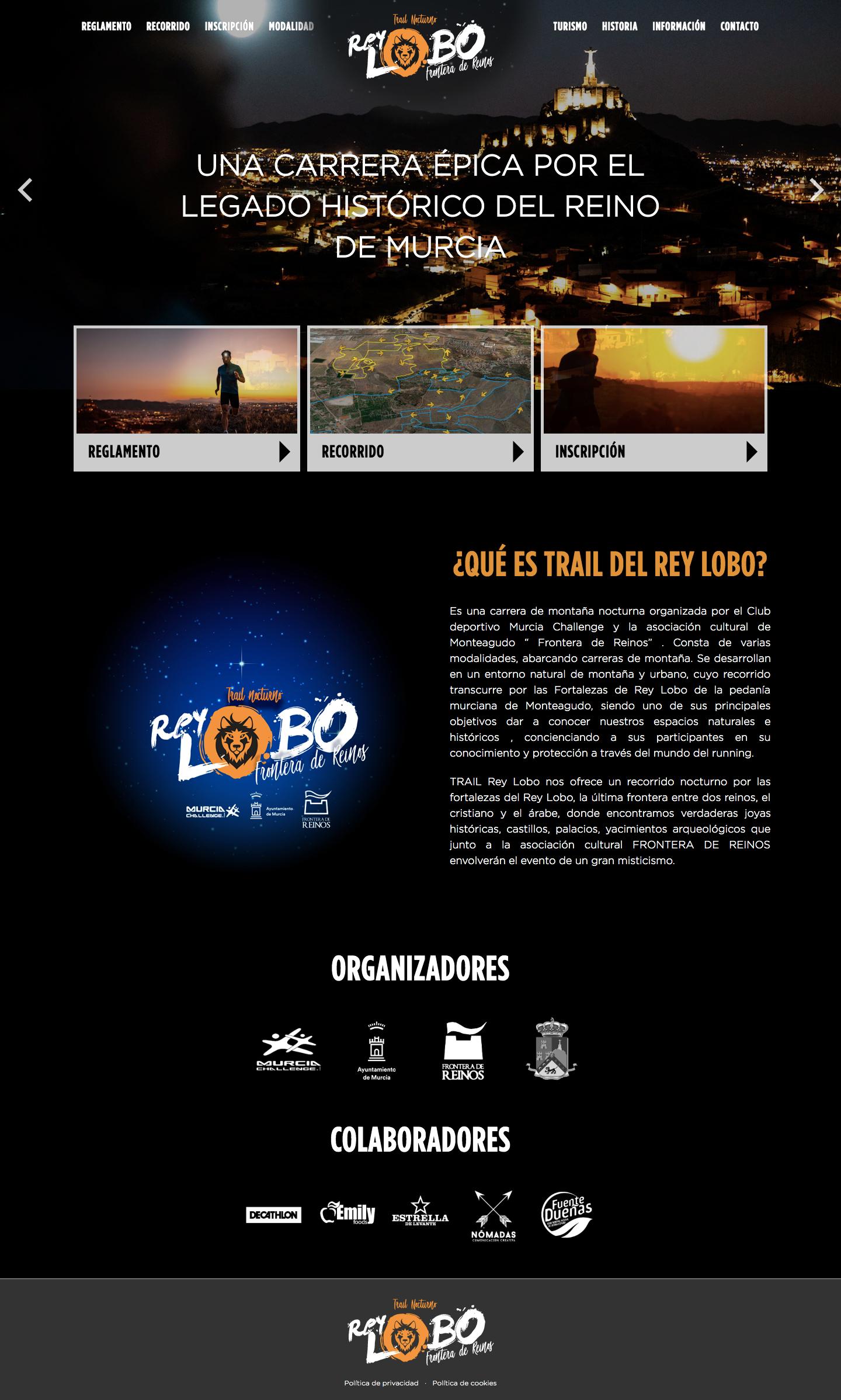 Diseño y programación de página web para Rey Lobo. Estudio de diseño en Murcia, Madrid y Panamá City | Nómadas Comunicación Creativa