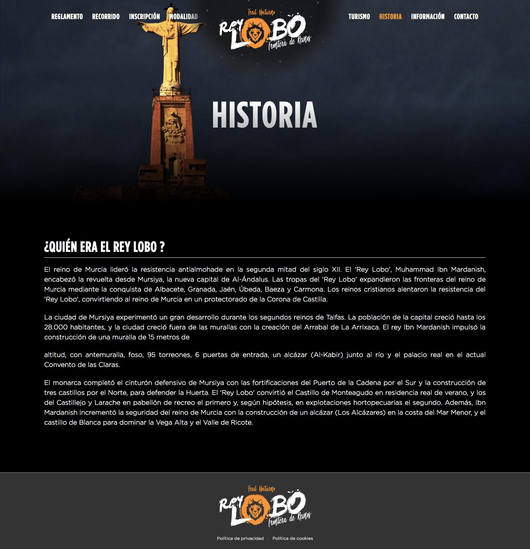 Diseñador de páginas web a medida para Trail Nocturna en Murcia, Madrid y Panamá City | Nómadas Comunicación Creativa
