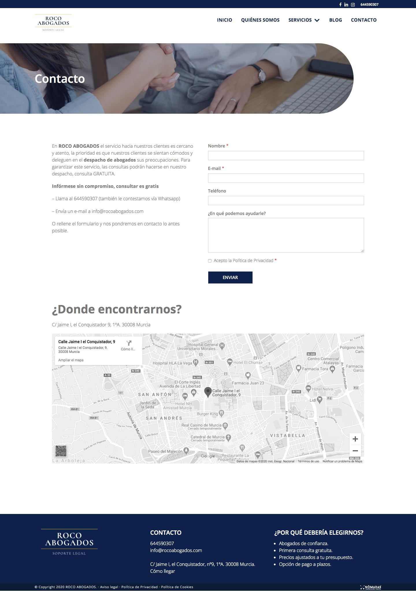 Programador web freelance para abogados en Murcia, Madrid y Panamá | Nómadas Comunicación Creativa.