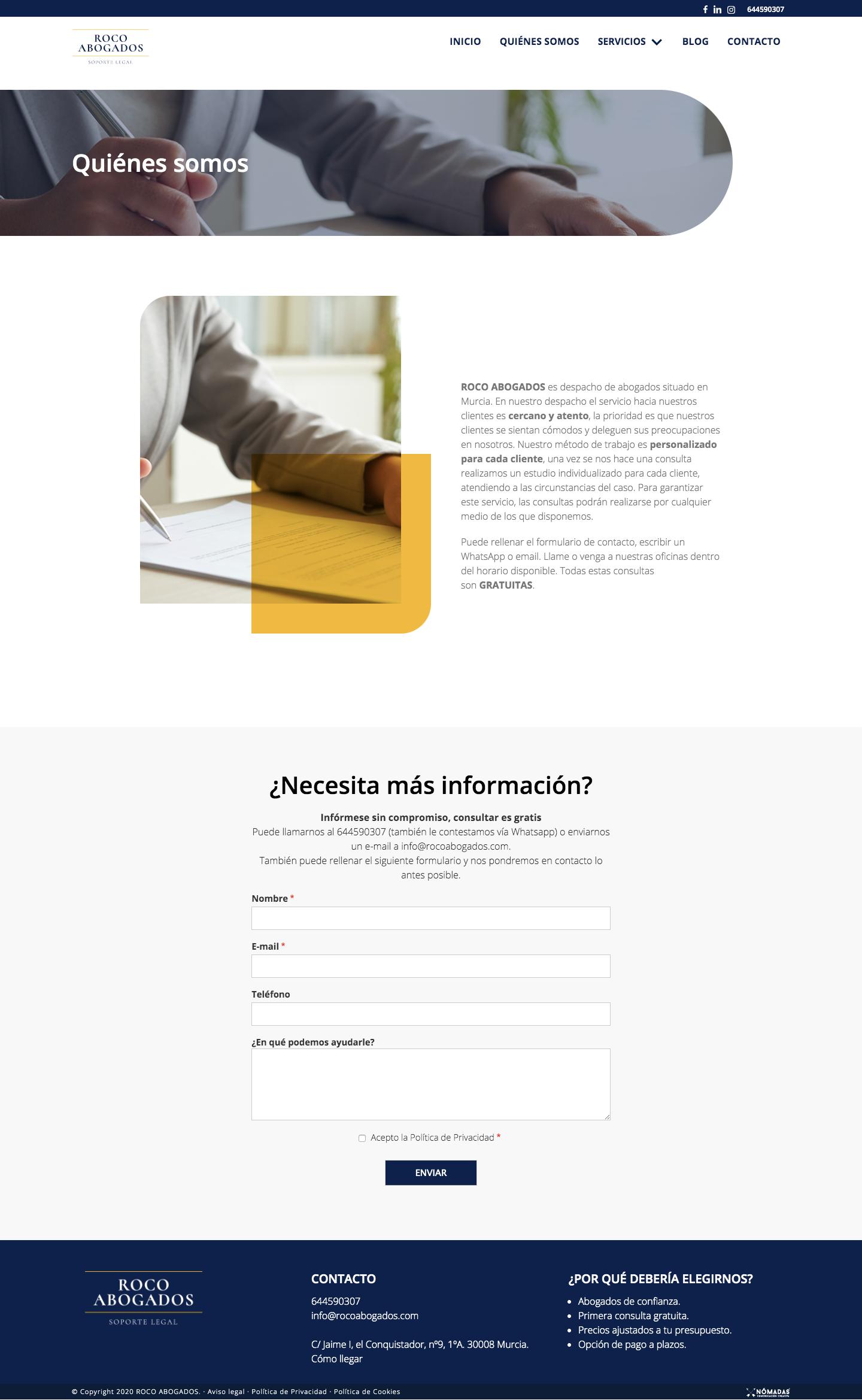 Abogados deportivo en Murcia, Madrid y Panamá. Agencia de Marketing digital en Murcia | Nómadas Comunicación Creativa.