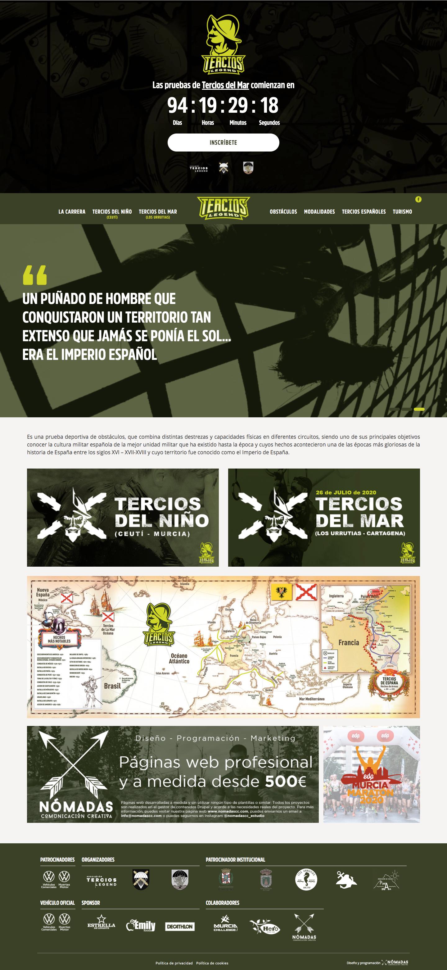 Desarrollado de página web con Drupal por un programador freelance en Murcia | Nómadas Comunicación Creativa.