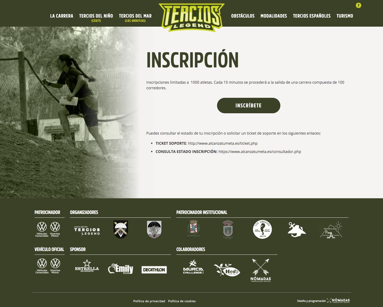 Páginas web corporativas para eventos deportivos en Murcia y Madrid | Nómadas Comunicación Creativa.